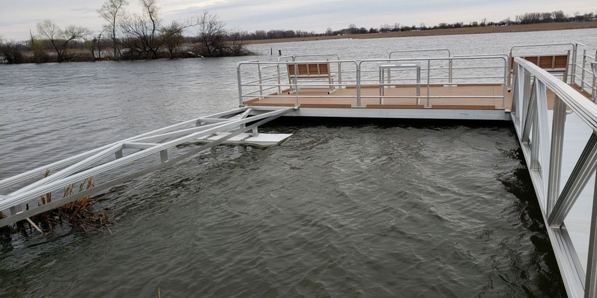 pier designs for lakes on a cloudy day